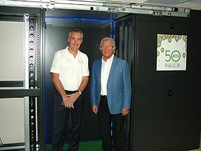 Philippe Bonduelle (à gauche) et Guy Richard (à droite) fondateur de Decelect en 1968